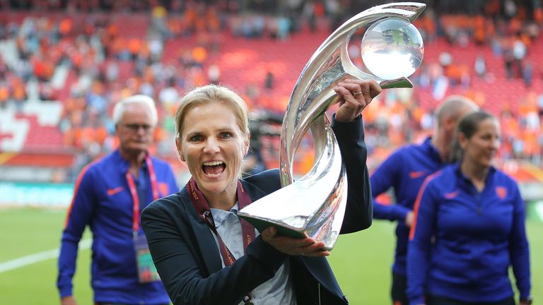 The former Netherlands midfielder also oversaw victory at 2017 European Championship