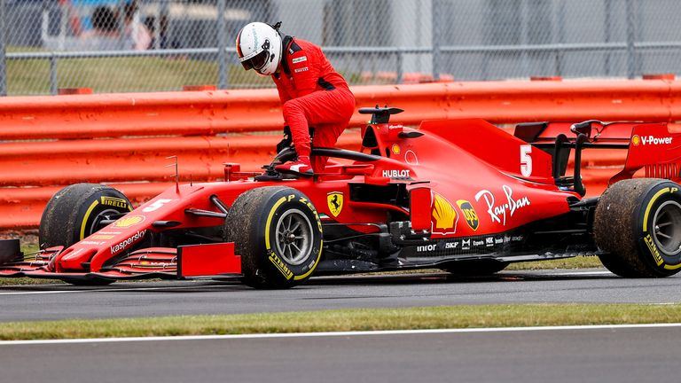 Sebastian Vettel also suffered an engine failure during Friday practice at Silverstone last week