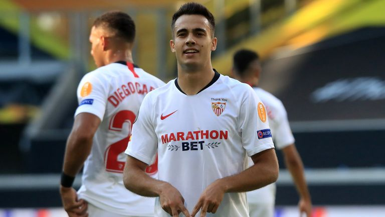 Sergio Reguilon was on target during Sevilla's 2-0 win over Roma