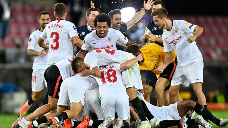 Sevilla have won the Europa League after beating Inter Milan in the final