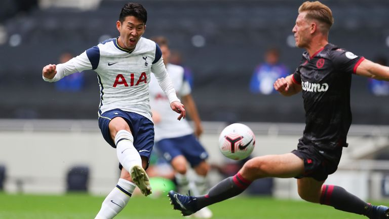 Son Heung-min strokes home to score for Tottenham against Reading
