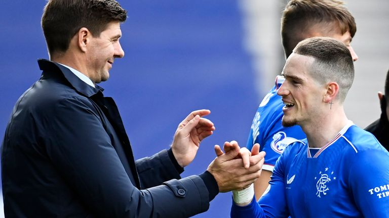 Steven Gerrard was delighted with Ryan Kent's performance against Kilmarnock