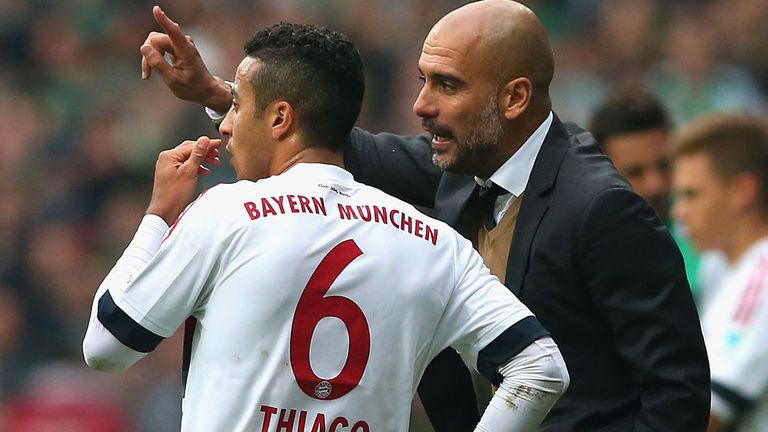 Guardiola signed Alcantara in 2013 when he was Bayern Munich manager