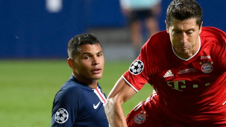 Thiago Silva made his final PSG appearance in their Champions League final defeat to Bayern Munich