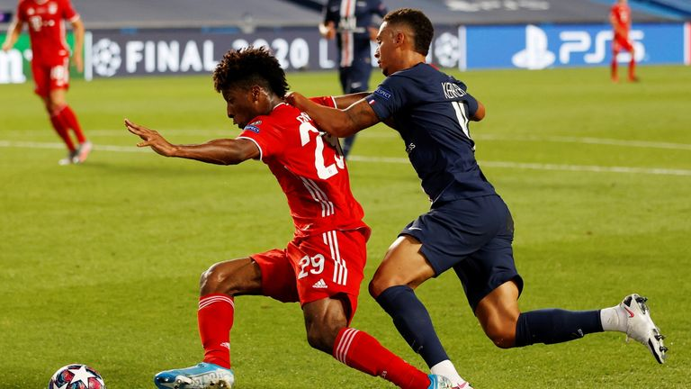 Thilo Kehrer was fortunate to not concede a penalty on Kingsley Coman