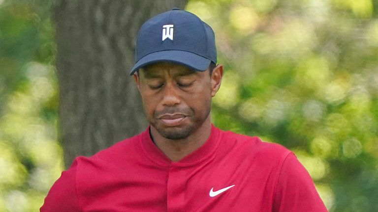 Tiger Woods finished on 11 over par in the BMW Championship