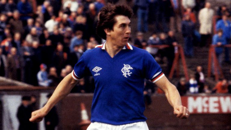 .Tom Forsyth in action for Rangers in 1981