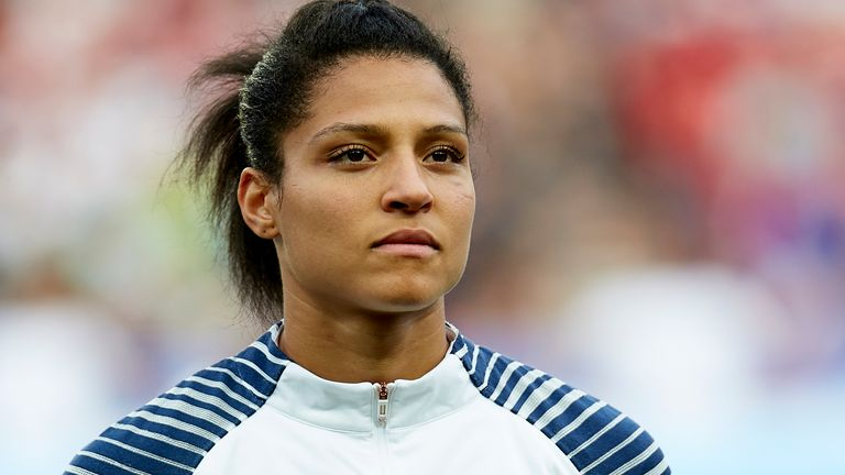 Valerie Gauvin featured in last year's Women's World Cup for France