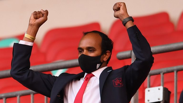 Vinai Venkatesham is impatient for Arsenal to be competing at the highest level of club football