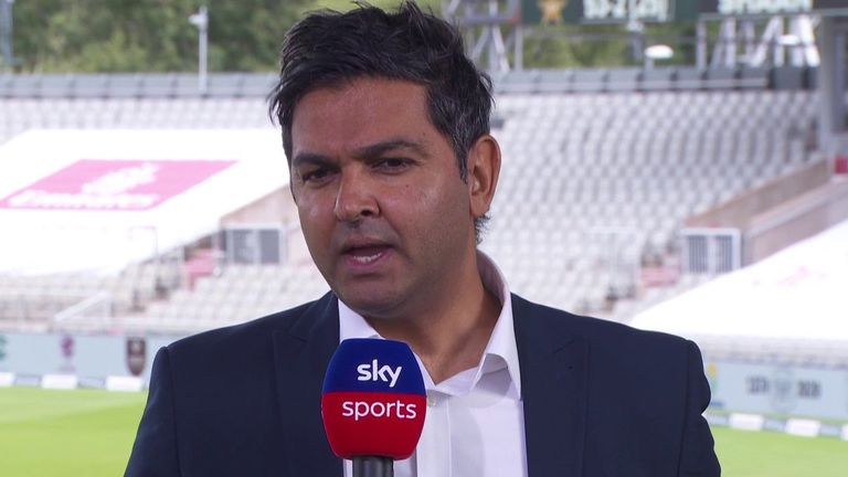 Wasim Khan joined Sky Sports during lunch on day one of the first Test between England and Pakistan