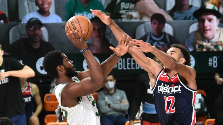 Washington Wizards and the Boston Celtics