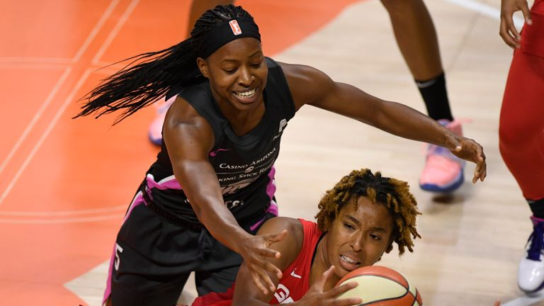Highlights of the WNBA regular season game between the Washington Mystics and the Phoenix Mercury from Florida.