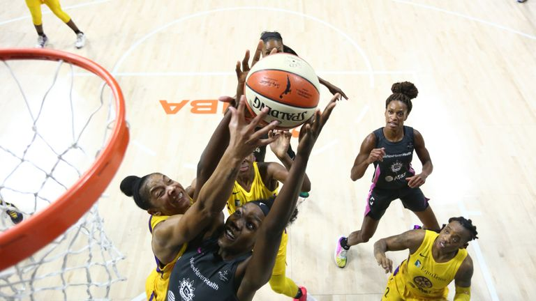 Highlights of the WNBA regular season game between the Los Angeles Sparks and the Connecticut Sun from Florida.