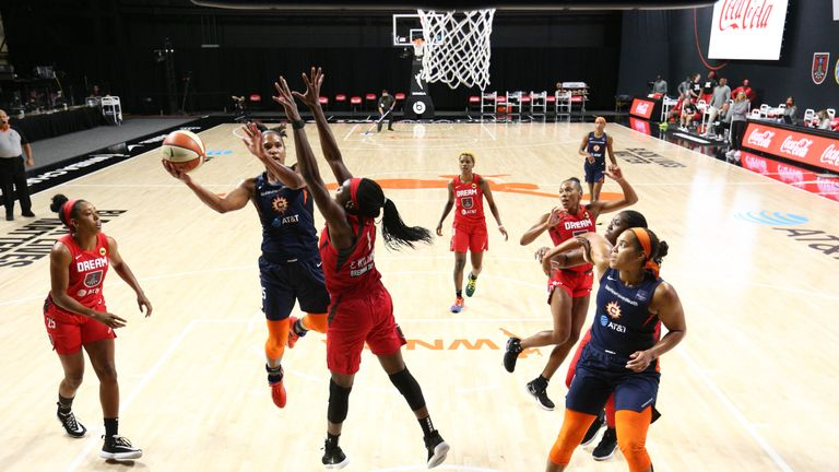 Highlights of the WNBA regular season game between the Connecticut Sun and the Atlanta Dream from Florida.