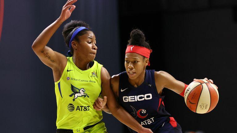 Washington Mystics and the Dallas Wings in the WNBA