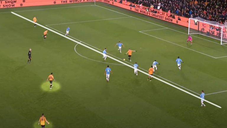 Wolves' marauding wing-back scores the winner against Manchester City at Molineux in the 2019/20 Premier League season