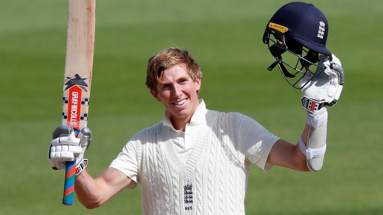 Crawley turned his maiden Test hundred into a double during England's Test against Pakistan at the Ageas Bowl