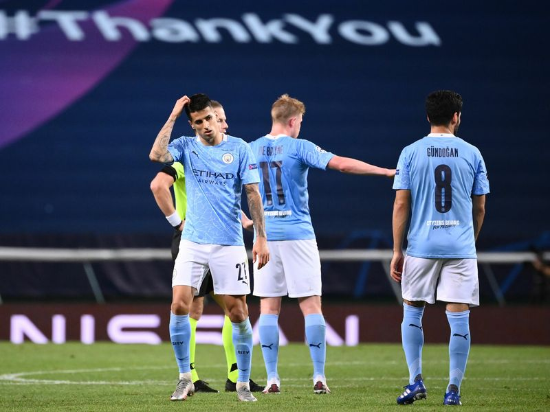 Manchester City 1 3 Lyon Moussa Dembele Double Sees City Knocked Out Of Champions League Again Football News Sky Sports