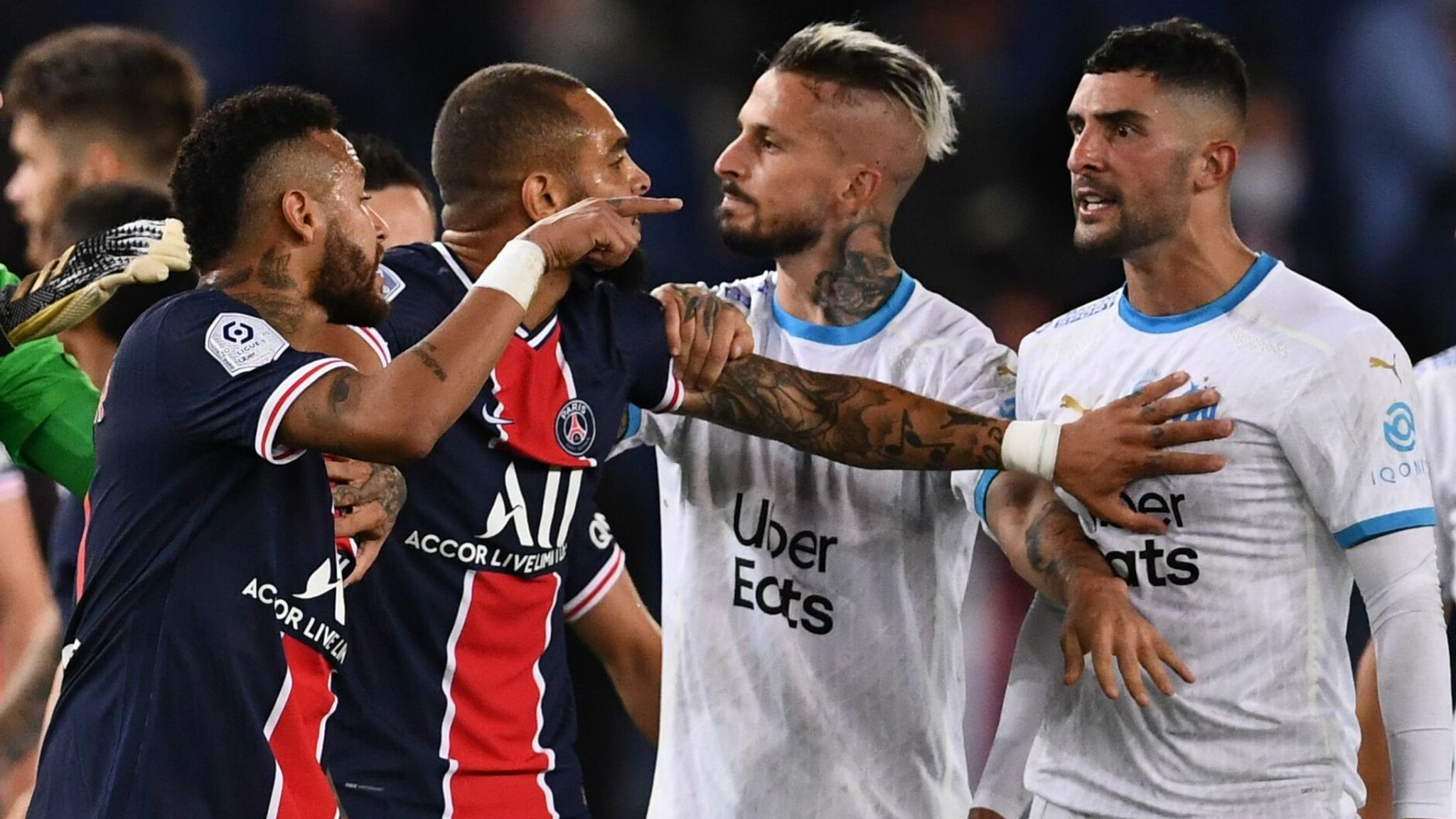 Neymar Banned For Two Games Following Psg Marseille Brawl Football News Sky Sports