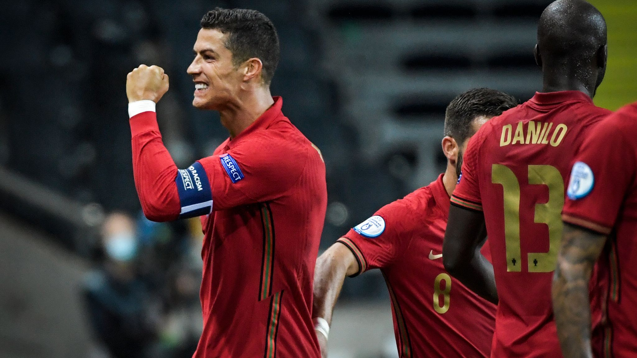 Cristiano Ronaldo Hits Landmark Goal As Portugal Beat Sweden In Nations League Football News Sky Sports
