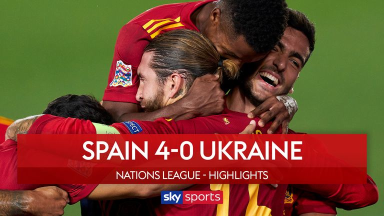 Nations League Round Up Ansu Fati Scores In Spain Win Germany Held By Switzerland Football News Sky Sports