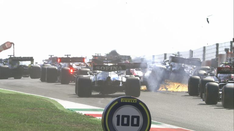 Watch the Race Start Replays during the Tuscan Grand Prix which saw Max Verstappen and Pierre Gasly retire