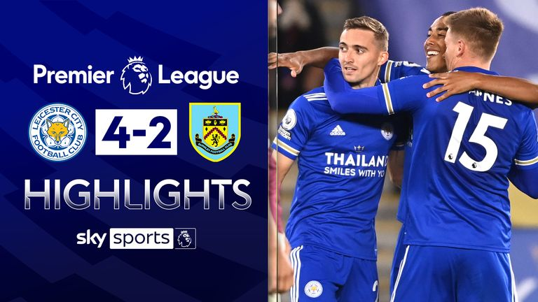 Leicester 4 2 Burnley Foxes Go Top With Entertaining Victory Football News Sky Sports