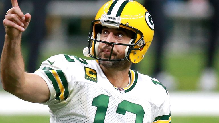 Packers quarterback Aaron Rodgers has passed for 2,578 yards, 26 touchdowns and only three interceptions through nine games