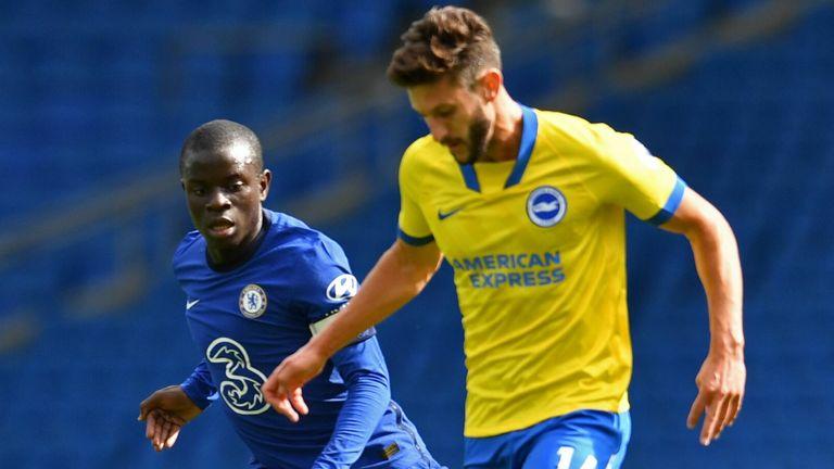 Adam Lallana in action for Brighton against Chelsea in a pre-season friendly