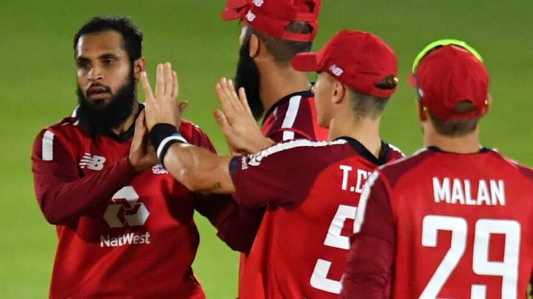 Adil Rashid (left) was praised heavily by Moeen Ali after his three wickets against Australia