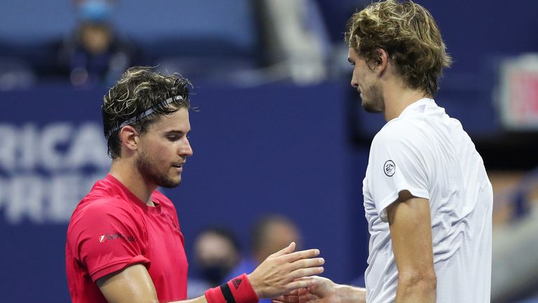 Thiem and Zverev played out a dramatic US Open men's singles final