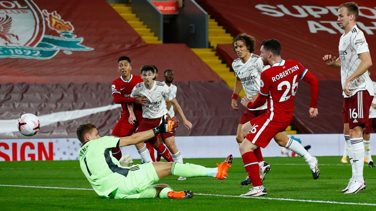Andy Robertson makes it 2-1 to Liverpool