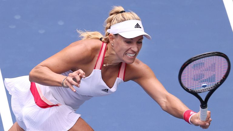 Former champion Angelique Kerber opened the order of play on Wednesday