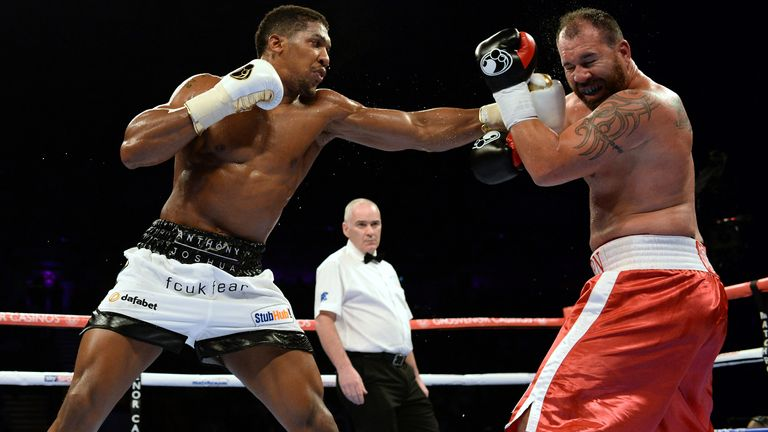 Gavern bravely climbed off the canvas against Joshua