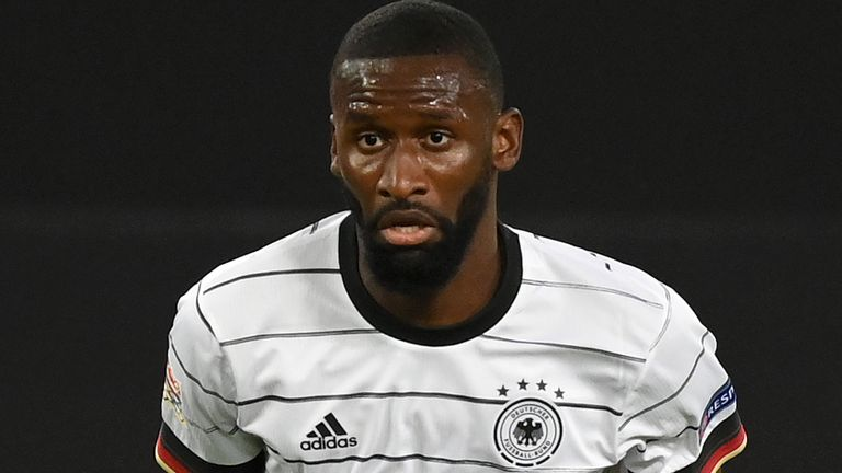 Antonio Rudiger started both of Germany's Nations League matches earlier in September