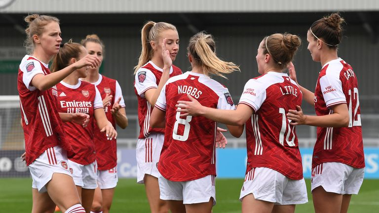 Arsenal thashed Reading 6-1 on the opening week of the Women's Super League