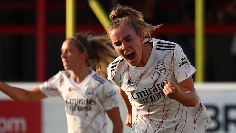 Arsenal Women are top of Women's Super League but there are fears that the development of  teams further down the pyramid could be set back a decade