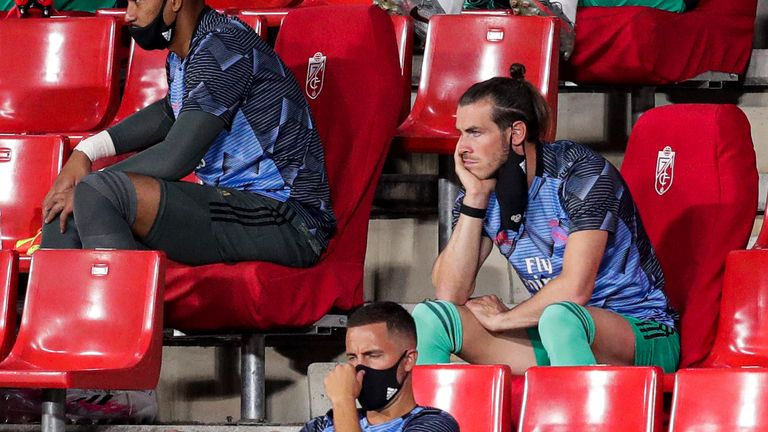 Gareth Bale made two appearances for Real Madrid after lockdown