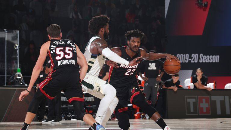 Highlights of Game 5 of the Eastern Conference semi-final series between the Miami Heat and the Milwaukee Bucks.