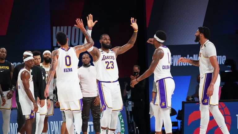 Los Angeles Lakers star LeBron James came up with three incredible blocks in the third quarter of Game 3 against the Houston Rockets.