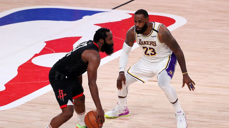 Highlights of Game 3 of the Western Conference semi-final series between the Los Angeles Lakers and the Houston Rockets.