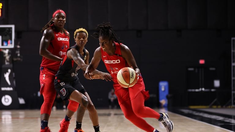 Highlights of the WNBA regular season game between the Washington Mystics and the Atlanta Dream from Florida.