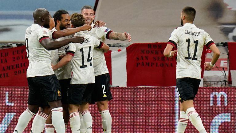 Belgium eased past Denmark 2-0 on Saturday