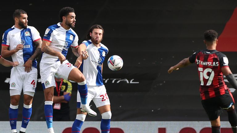 Bournemouth beat Blackburn 3-2 in their first game back in the Championship since the 2014/15 season.