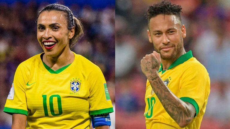 Marta and Neymar will receive equal pay for representing Brazil