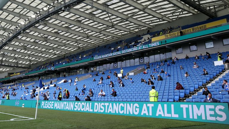 2,500 fans watched Brighton's pre-season friendly against Chelsea on August 29