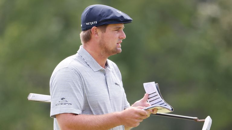 DeChambeau was the only player to break par on Sunday, and the only man to finish under the card for the week
