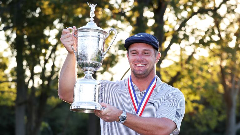 Bryson DeChambeau claimed a six-shot victory at the US Open in September