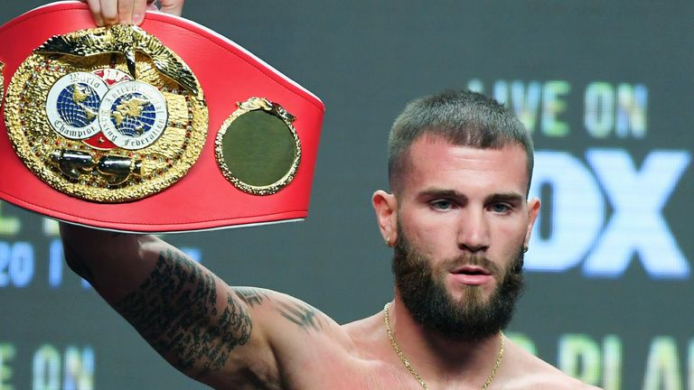 Caleb Plant holds the IBF belt at 168lbs