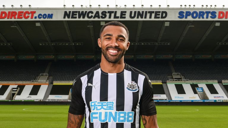 Newcastle United unveil new signing Callum Wilson at St.James' Park